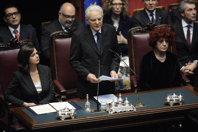 LAURA BOLDRINI SERGIO MATTARELLA VALERIA FEDELI