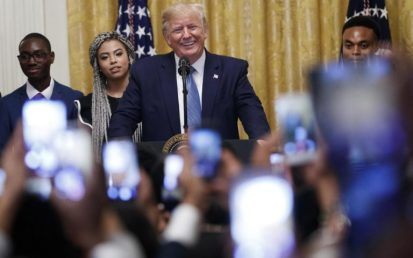 US President Donald J. Trump Delivers Remarks During The Young Black Leadership Summit 2019